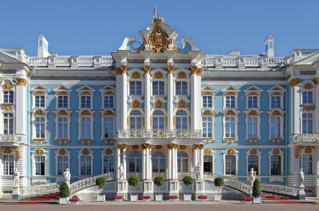 Piękny kolorowy pałac